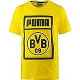Puma BVB–Shoe Día Tee–Camiseta, hombre, 754057, Cyber Yellow, small