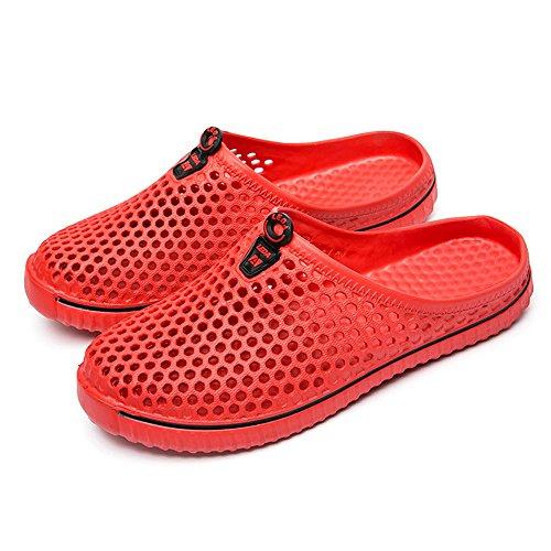 Aoogo Strand Sandalen Slipper Männer Damen Schuhe Unisex Aushöhlen Casual Paar Strand Shoes Women Flip Flops Atmungsaktiv Strandschuhe Freizeitschuhe Herren Hausschuhe