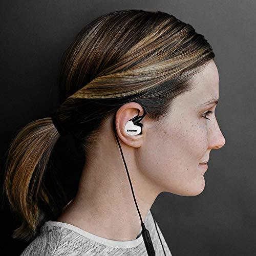 Shure SE215SPE-W-BT1-EFS Bluetooth In-Ear Kopfhörer mit passiver Geräuschunterdrückung für iOS & Android - Premium Ohrhörer mit warmem & detailreichem Klang - Special Edition: Weiß - 5