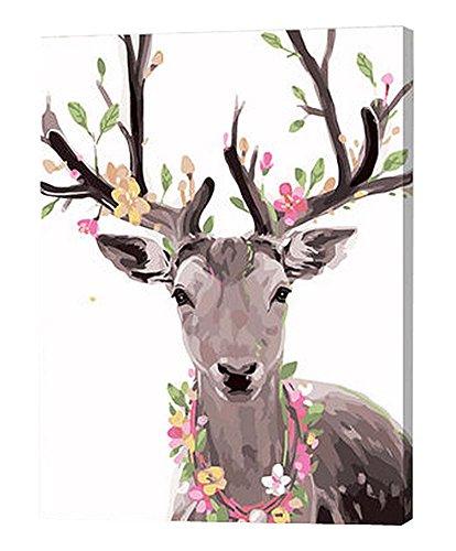 DIY Digital Ölgemälde Lliving Raum Landschaft Blumen Farbe Ölmalerei , Hirsch