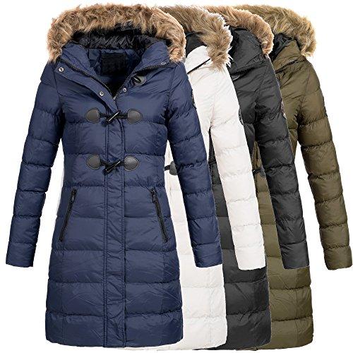 AZ-Fashion Damen Steppmantel Winter Mantel Parka Jacke warm S-XXL AZ29 4-Farben