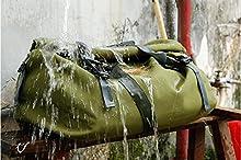 Aventura impermeable robusta bolsa saco de equipaje de la motocicleta universal Touring Bolsa Saco IP5 60L Ejército Verde