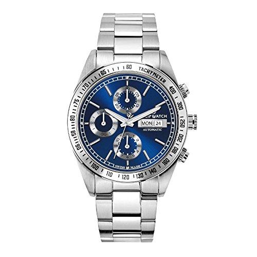 PHILIP WATCH Orologio Cronografo Automatico Uomo con Cinturino in Acciaio Inox R8243607003