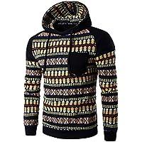 Yvelands Suéter de Camuflaje para Hombre, Sudadera con Capucha de Hombre Suéter de Felpa con Forro Polar de Ecosmart