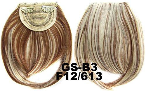 # 12 _ 613 F 100% fibre synthétique haute température Clip dans/sur cheveux avant frange frange cheveux