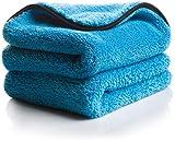 Soffici panni in microfibra ultra assorbenti e capacità di aspirazione elevata – Panno in microfibra multiuso, ideale per asciugare e da usare come lucidante per la cura professionale della macchina (set da 2)