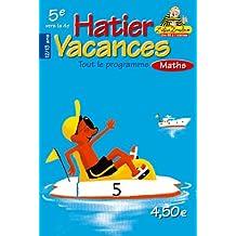 Hatier vacances : Mathématiques, de la 5ème vers la 4ème - 12-13 ans