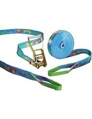 Slackstar Basic Design 2-Piece Slackline Set For Children & Beginners - 15m x 50mm, Design Tootsy