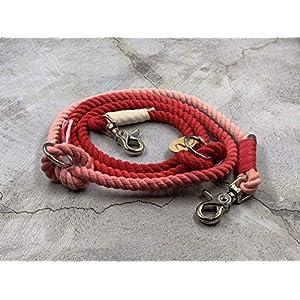 Exklusive Tau-Leine für Hunde in Rot (Ombre-Look) – handmade by Matibuli