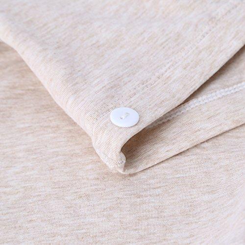 UTOVME Schwangere Unterwäsche Baumwolle hohe Taille Unterstützung Bauch verstellbar Superelastic Umstandsmode unterhose Beige Größe M/L/XL/XXL/XXXL Beige
