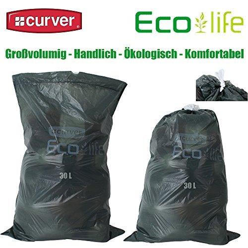 4 Rotoli a 20 Curver Eco Vita Di Sacchetti Di Immondizia Sacchi Immondizia 30 Litri Riciclaggio CO2 ridotto