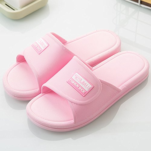 DogHaccd pantofole,Pantofole donna estate home indoor fondo morbido antiscivolo coreano semplice bagno bagno home estate giovane doccia pantofole Rosa