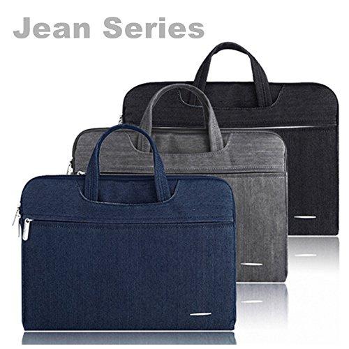 Preisvergleich Produktbild 1112131438,1cm Denim Jeans perfekt Fit Laptop Tasche Ärmeln Notebook/Handtasche/Aktenmappe stoßfest Mehrzweck für Männer Frauen blau 15 zoll