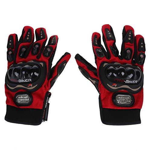 TOOGOO(R) Guantes calientes impermeables de invierno termicos de hombre Guantes de motocicletas con dedos completos ideal para excursionismo esqui ciclismo al aire libre Rojo (Tamano L)