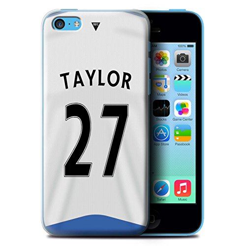 Offiziell Newcastle United FC Hülle / Case für Apple iPhone 5C / Pack 29pcs Muster / NUFC Trikot Home 15/16 Kollektion Taylor