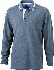 James & Nicholson Herren Poloshirt Poloshirt Men's Long-Sleeve
