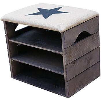 meuble chaussures noir banc de rangement pour chaussures avec tag res assise confortable en. Black Bedroom Furniture Sets. Home Design Ideas