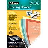 Fellowes Futura - Portadas de encuadernación (polipropileno, 280 micras), color negro