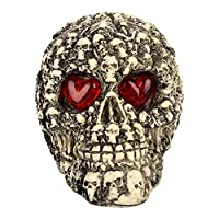 LONTG Skeleton Skull Serried Skull for Halloween Decorations Scary Skull Ghost Skeleton Halloween Ornaments for Haunted House Home Party Garden and Bars