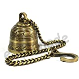ESplanade - Ethnic Indian Handcrafted Brass Temple Bell With Chain | Brass Hanging Bell | Home Decor | Door Decor | Pooja Accessories