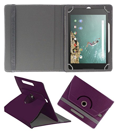 Acm Rotating 360° Leather Flip Case For Google Nexus 9 Tablet Cover Stand Purple  available at amazon for Rs.389