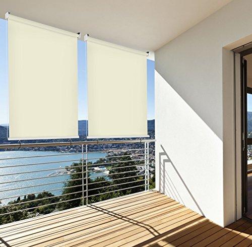 Sonnenschutz Rollo Aussenrollo Sichtschutz Balkon creme 140x230cm 302660314-VH
