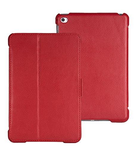 FUTLEX Smart Cover Case Vera Pelle per iPad Mini 4 - Rosso - Design unico (Dj Station Karaoke)