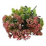 Sharplace Künstliche Blumen Blumenstrauß Seide Blumen Frühling Mailand Frucht Blumen Künstliches Für Dekoration - Rot, 30 x 10x 5cm