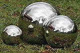 Dekokugel, Gartenkugel Galaxy in silber aus Edelstahl, 1 Stück, Ø ca. 18 cm