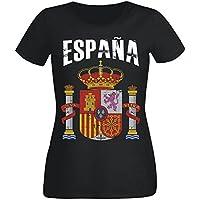 Damen T-Shirt Spanien WM 2018 .- Vintage Destroy SC Wappen D01