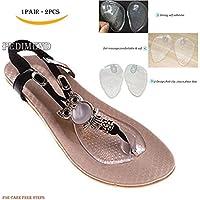 Preisvergleich für pedimend Silikon selbstklebend Sandale Protektoren–Zehenschutz Kissen–Vorderfuß Einlegesohlen Pads–Selbstklebend...