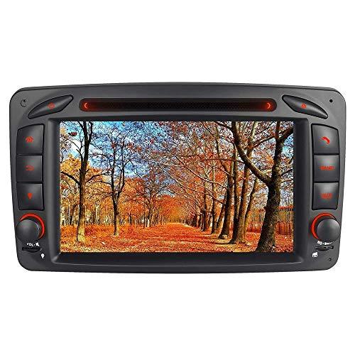 "A-SURE 7\"" DVD GPS Autoradio für Mercedes Benz C-Class W203 S203 CLK-Class W209 C209 W639 Viano & Vito G-Class W463 Unterstützt Bluetooth DAB, USB, Micro SD, AUX, CD Wechsler, RDS Mirrorlink BCOQ-ZT"