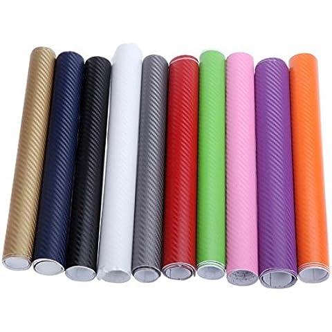 rexul £ ¨ TM) 127* 30cm 3d de fibra de carbono película vinilo adhesivo coche/decoración púrpura rosa rojo verde gris Golden azul negro blanco