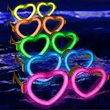 6 Gafas luminosas glow corazón