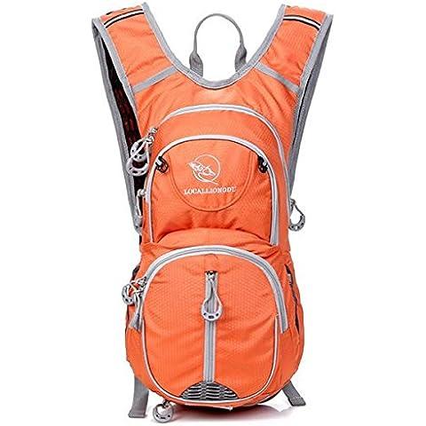 MaMaison007 20L Unisex equitazione zaino borsa bicicletta disponibile per acqua borsa - Orange