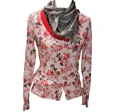 R95th Strickjacke Damen Cardigan allover Flower creme-L