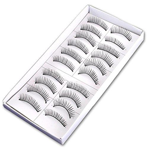 Box 10 Pares Pestañas Postizas Fake Eyelashes natural