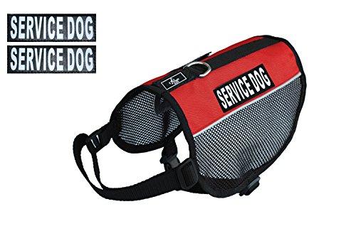 Service Hund Vest Mesh Harness Cool Comfort Nylon für Hunde klein medium Große Kauf kommt mit 2Reflektierende Service Hund pathces. Bitte Messen Sie Ihren Hund vor Bestellung, Girth 21-24