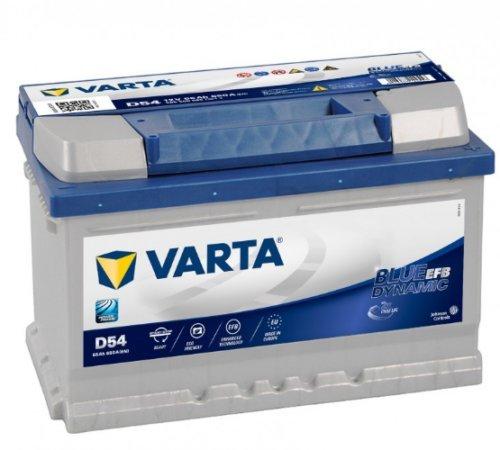 BATTERIA VARTA D54 BLU-DYN-EFB 12V 65Ah DIM: 278x175x175 B13 POL.1DX