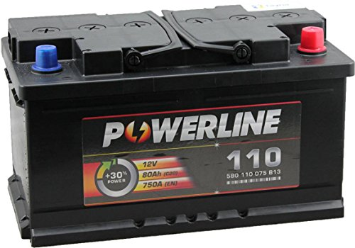 110 Powerline Autobatterie 12V 80Ah