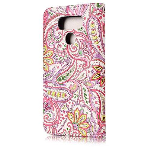 Cozy Hut LG G6 Hülle,LG G6 Leder Wallet Tasche Brieftasche Schutzhülle, 3D Chili Painted Muster Schutzhülle für LG G6 Hülle Flip Case Wallet Cover mit Slim Tasche PU Leder Handytasche Anti-