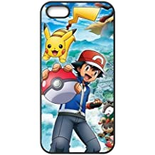 Pokemon Pikachu Design Etui Housse Arrière pour iPhone 5/5S,Personalized Coque iPhone 5S,IPhone 5 Cover Case,Coque Housse Etui pour Apple iPhone 5 / 5S