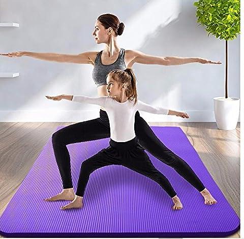 MDRW-Amateurs De Yoga Tapis De Yoga Élargir 130 Double Long Épais Tapis De Yoga Tapis De Danse Sports Pad 200*130 Cm Tapis De Yoga