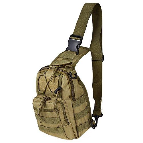 Ajusen Military Umhängetasche Brusttasche Rucksack Multifunktions Tactical Schultertasche Chest Bag für Radfahren Wandern Camping 6
