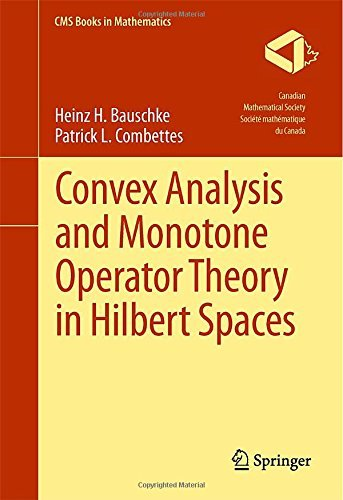 Convex Analysis and Monotone Operator Theory in Hilbert Spaces (CMS Books in Mathematics) 2011 edition by Bauschke, Heinz H., Combettes, Patrick L. (2011) Hardcover