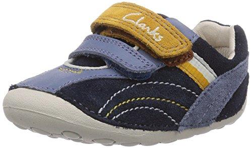 Clarks Tiny Dexton, Sneaker per neonati bambino, Marrone (Braun (Brown Combi Lea)), 18.5