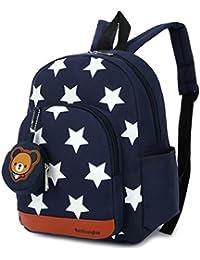 Kimruida - Mochila con diseño de Estrella para niños y niñas, ...