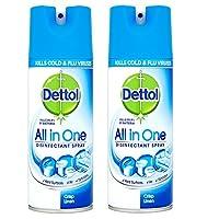 Dettol Disinfectant Spray - 400 ml (Crisp Linen) Pack Of 2