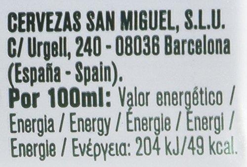 San Miguel Cerveza - Paquete de 12 x 33 cl - Total: 3960 ml