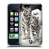 Head Case Designs Two White Tigers Famous Animals Hard Back Case for Apple iPhone 3G / 3GS